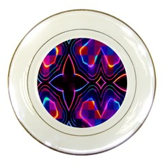 Rainbow Abstract Background Pattern Porcelain Plates by Simbadda