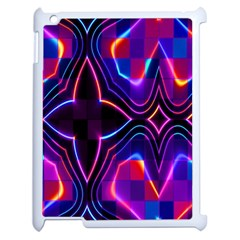 Rainbow Abstract Background Pattern Apple Ipad 2 Case (white) by Simbadda