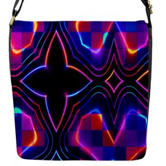 Rainbow Abstract Background Pattern Flap Messenger Bag (s) by Simbadda