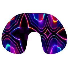 Rainbow Abstract Background Pattern Travel Neck Pillows by Simbadda