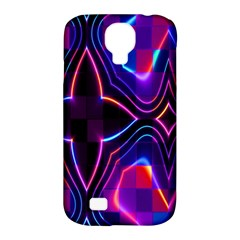 Rainbow Abstract Background Pattern Samsung Galaxy S4 Classic Hardshell Case (pc+silicone) by Simbadda
