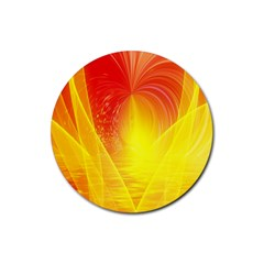 Realm Of Dreams Light Effect Abstract Background Rubber Round Coaster (4 Pack)  by Simbadda