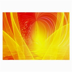 Realm Of Dreams Light Effect Abstract Background Large Glasses Cloth (2 Side) by Simbadda