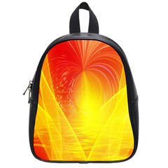 Realm Of Dreams Light Effect Abstract Background School Bags (small)  by Simbadda