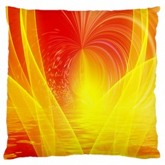 Realm Of Dreams Light Effect Abstract Background Large Flano Cushion Case (two Sides) by Simbadda