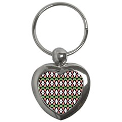 Abstract Pinocchio Journey Nose Booger Pattern Key Chains (heart)  by Simbadda
