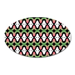 Abstract Pinocchio Journey Nose Booger Pattern Oval Magnet by Simbadda