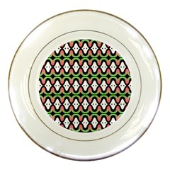Abstract Pinocchio Journey Nose Booger Pattern Porcelain Plates by Simbadda