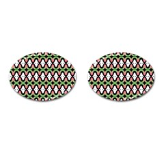 Abstract Pinocchio Journey Nose Booger Pattern Cufflinks (oval) by Simbadda