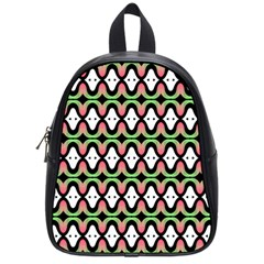 Abstract Pinocchio Journey Nose Booger Pattern School Bags (small)  by Simbadda