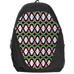 Abstract Pinocchio Journey Nose Booger Pattern Backpack Bag by Simbadda