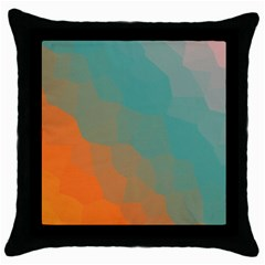 Abstract Elegant Background Pattern Throw Pillow Case (black) by Simbadda