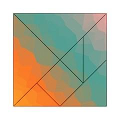 Abstract Elegant Background Pattern Acrylic Tangram Puzzle (6  X 6 ) by Simbadda