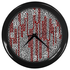 Abstract Geometry Machinery Wire Wall Clocks (black) by Simbadda