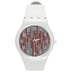 Abstract Geometry Machinery Wire Round Plastic Sport Watch (m) by Simbadda