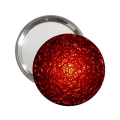 Abstract Red Lava Effect 2 25  Handbag Mirrors