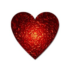 Abstract Red Lava Effect Heart Magnet by Simbadda
