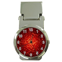 Abstract Red Lava Effect Money Clip Watches by Simbadda