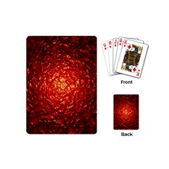 Abstract Red Lava Effect Playing Cards (mini)  by Simbadda