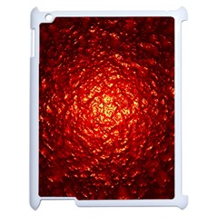 Abstract Red Lava Effect Apple Ipad 2 Case (white) by Simbadda