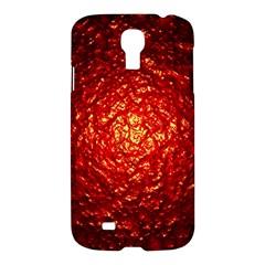 Abstract Red Lava Effect Samsung Galaxy S4 I9500/i9505 Hardshell Case by Simbadda