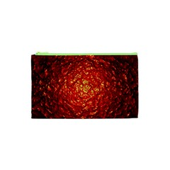 Abstract Red Lava Effect Cosmetic Bag (xs) by Simbadda