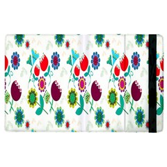 Lindas Flores Colorful Flower Pattern Apple Ipad 3/4 Flip Case by Simbadda