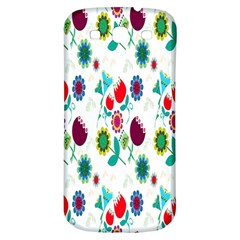 Lindas Flores Colorful Flower Pattern Samsung Galaxy S3 S Iii Classic Hardshell Back Case by Simbadda