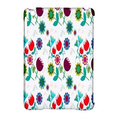 Lindas Flores Colorful Flower Pattern Apple Ipad Mini Hardshell Case (compatible With Smart Cover) by Simbadda