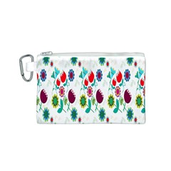 Lindas Flores Colorful Flower Pattern Canvas Cosmetic Bag (s) by Simbadda