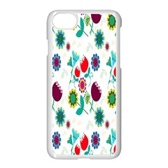 Lindas Flores Colorful Flower Pattern Apple Iphone 7 Seamless Case (white) by Simbadda