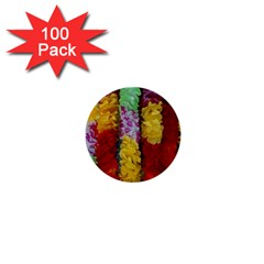 Colorful Hawaiian Lei Flowers 1  Mini Buttons (100 Pack)  by Simbadda