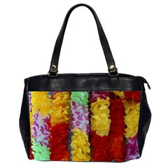 Colorful Hawaiian Lei Flowers Office Handbags (2 Sides)  by Simbadda