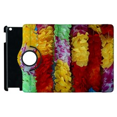 Colorful Hawaiian Lei Flowers Apple Ipad 3/4 Flip 360 Case by Simbadda