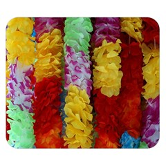 Colorful Hawaiian Lei Flowers Double Sided Flano Blanket (small)  by Simbadda