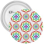 Geometric Circles Seamless Rainbow Colors Geometric Circles Seamless Pattern On White Background 3  Buttons