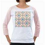 Geometric Circles Seamless Rainbow Colors Geometric Circles Seamless Pattern On White Background Girly Raglans