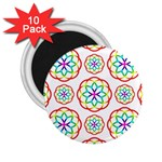 Geometric Circles Seamless Rainbow Colors Geometric Circles Seamless Pattern On White Background 2.25  Magnets (10 pack)