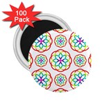 Geometric Circles Seamless Rainbow Colors Geometric Circles Seamless Pattern On White Background 2.25  Magnets (100 pack)