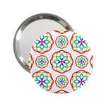 Geometric Circles Seamless Rainbow Colors Geometric Circles Seamless Pattern On White Background 2.25  Handbag Mirrors