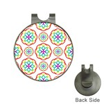 Geometric Circles Seamless Rainbow Colors Geometric Circles Seamless Pattern On White Background Hat Clips with Golf Markers