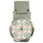 Geometric Circles Seamless Rainbow Colors Geometric Circles Seamless Pattern On White Background Money Clip Watches