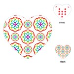 Geometric Circles Seamless Rainbow Colors Geometric Circles Seamless Pattern On White Background Playing Cards (Heart)