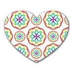 Geometric Circles Seamless Rainbow Colors Geometric Circles Seamless Pattern On White Background Heart Mousepads