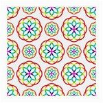 Geometric Circles Seamless Rainbow Colors Geometric Circles Seamless Pattern On White Background Medium Glasses Cloth (2-Side)
