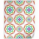 Geometric Circles Seamless Rainbow Colors Geometric Circles Seamless Pattern On White Background Canvas 11  x 14
