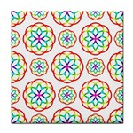 Geometric Circles Seamless Rainbow Colors Geometric Circles Seamless Pattern On White Background Face Towel
