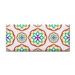 Geometric Circles Seamless Rainbow Colors Geometric Circles Seamless Pattern On White Background Cosmetic Storage Cases