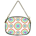 Geometric Circles Seamless Rainbow Colors Geometric Circles Seamless Pattern On White Background Chain Purses (Two Sides)