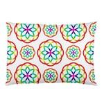 Geometric Circles Seamless Rainbow Colors Geometric Circles Seamless Pattern On White Background Pillow Case